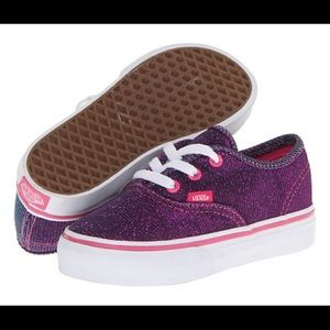 Vans Magenta Shimmer Shoes